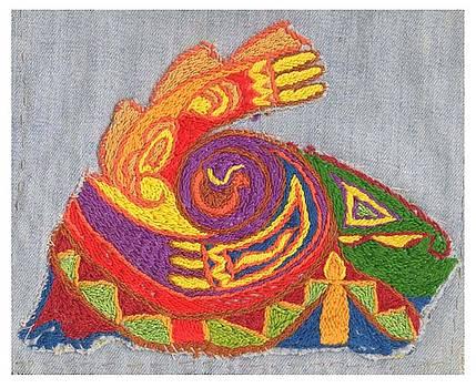 Hippie Bird Embroidery by William Krupinski