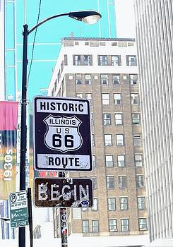 Historic Route 66 Begin - Chicago by Chrystyne Novack