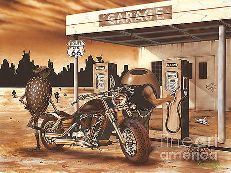 Historic Route 66 by Michael Godard