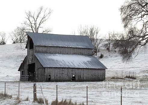 History barn in color  by J L Zarek