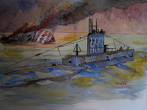 HMS Upholder by Ray Agius