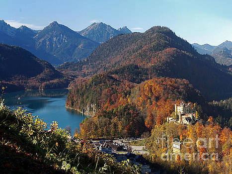 Hohenschwangau castle and Alpsee in Bavaria by Rudi Prott