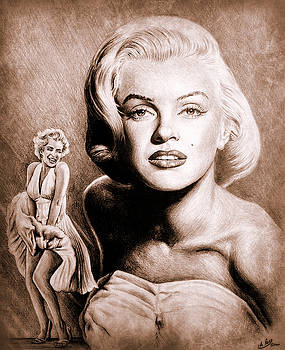 Hollywood Greats Marilyn by Andrew Read