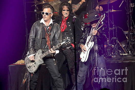 Hollywood Vampires Depp Cooper Perry by Front Row Photographs