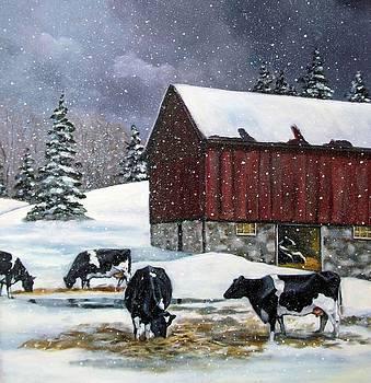 Joyce Geleynse - Holstein Cows on Snowy Day No. 2