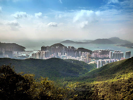 Hong Kong from Victoria Peak by Lynn Bolt