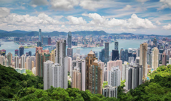 Hong Kong view from top by Anek Suwannaphoom