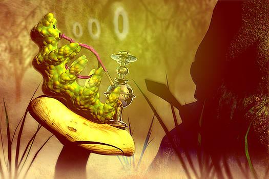 Hookah Smoking Caterpillar by Carol and Mike Werner