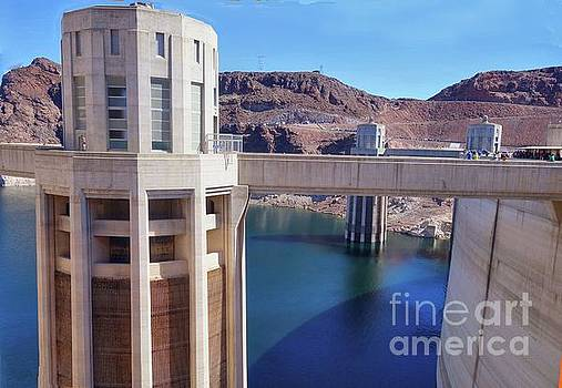 Hoover Dam Intake Towers by Janette Boyd
