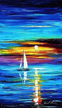 Horizon - PALETTE KNIFE Oil Painting On Canvas By Leonid Afremov by Leonid Afremov
