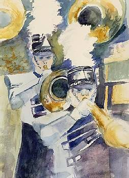 Horn Players by Donna Eaton
