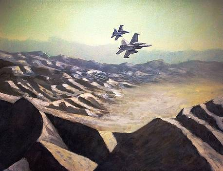 Hornets over Afghanistan by Stephen Roberson
