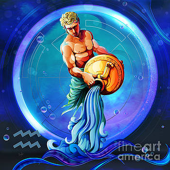 Horoscope Signs-Aquarius by Bedros Awak