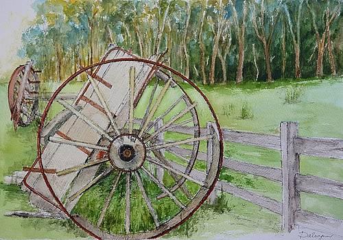 Horse drawn dray in decay by Dai Wynn