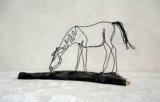Horse grazing by Bud Bullivant
