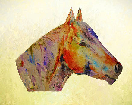 Horse Portrait Painted by Sandi OReilly