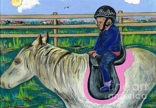 Horse Riding Girl  by Teresa White