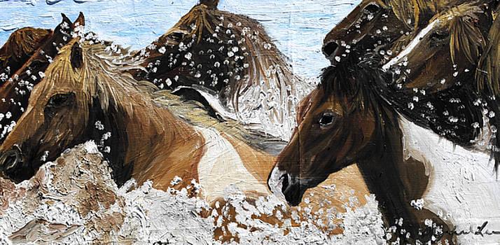 Horse Swim by Michael Lee