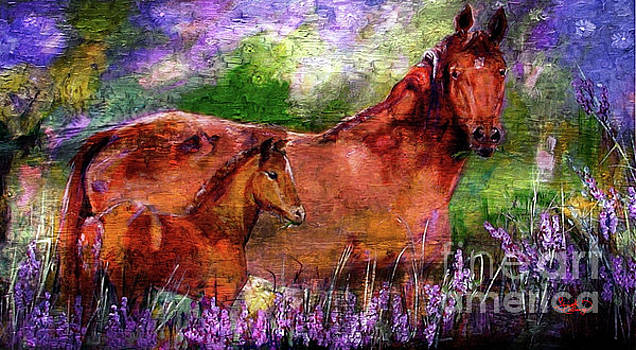 Ginette Callaway - Horses Chestnut Mare and Foal