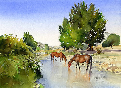 Horses in the Rio Milanos by Margaret Merry