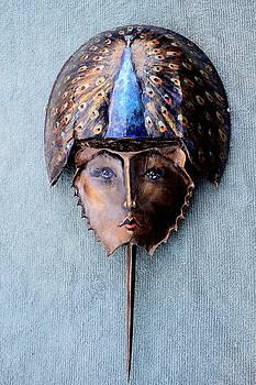 Horseshoe Crab Mask Peacock Helmet by Roger Swezey