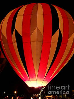 Hot Air Balloon Red by Justin Moore