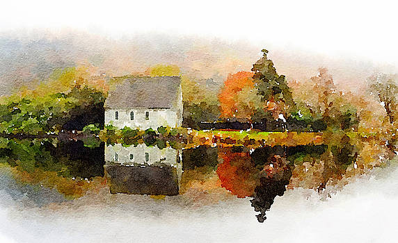 House at the lake by Tears of Colors Gallery