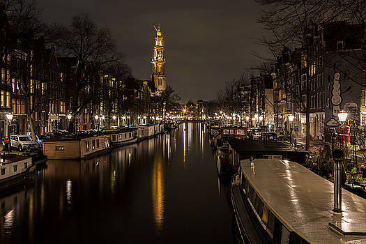 House Boats on the Prinsengracht by John Daly