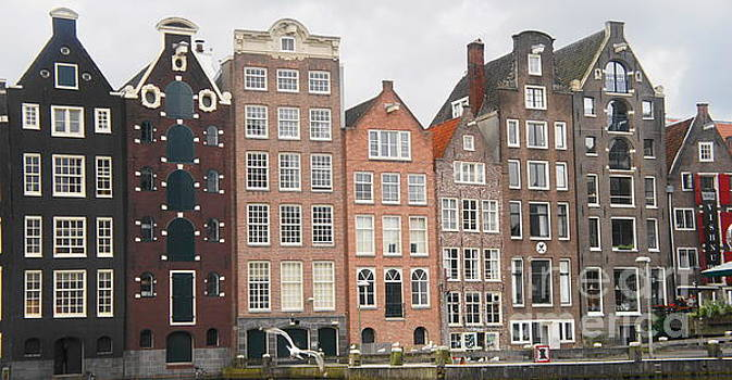 Houses of Amsterdam by Therese Alcorn