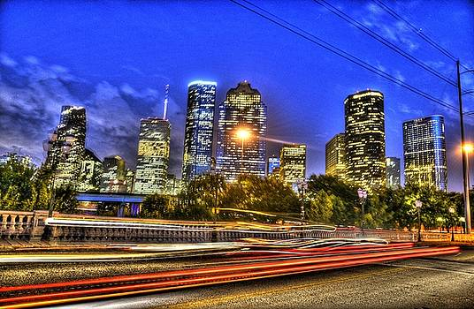 Houston Skyline by Tracey Bautista