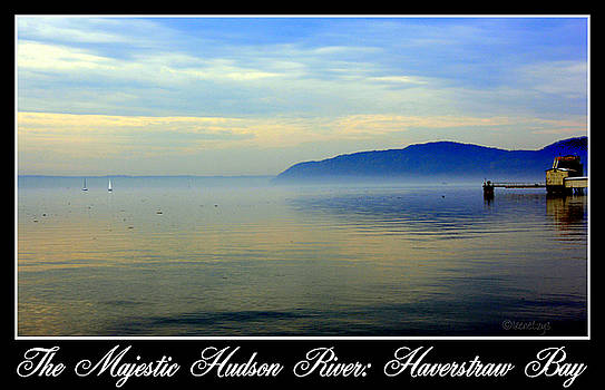 Hudson River Haverstraw Bay by Poster by Irene Czys
