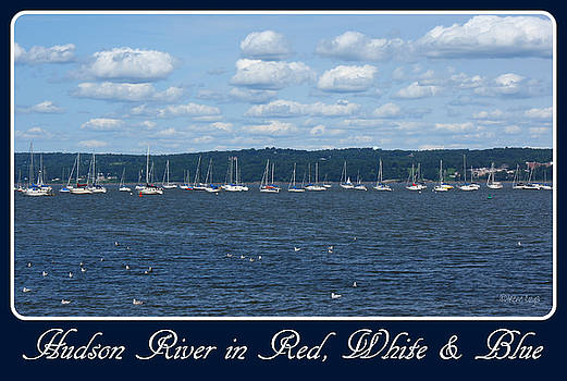 Hudson River in Red White Blue by Irene Czys