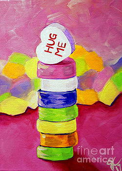 Hug Me Candy Hearts Tower by Jackie Carpenter