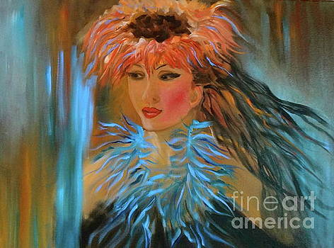 Hula in Turquoise by Jenny Lee