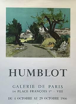 Humblot Galerie de Paris Exhibition Poster 1966 by Jacques Humblot