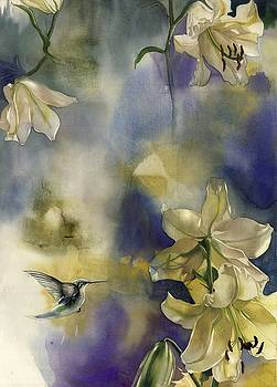 Alfred Ng - humming bird with lilies