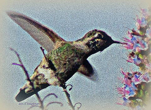 Hummingbird and Lilacs by Debi K Baughman