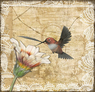 Hummingbird and Wildflower by Lesley Smitheringale
