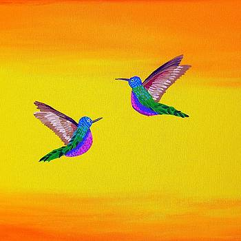 Hummingbird Sunset by Cathy Jacobs