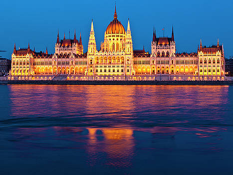 Hungarian Parliament Building by Rae Tucker