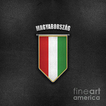 Hungary Pennant with high quality leather look by Carsten Reisinger
