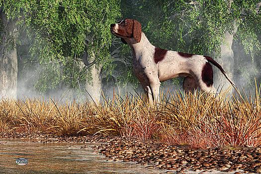 Daniel Eskridge - Hunting Dog By A River