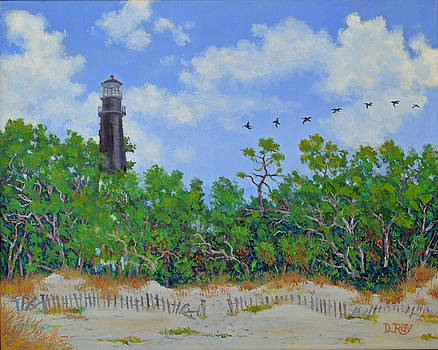 Hunting Island Lighthouse by Dwain Ray