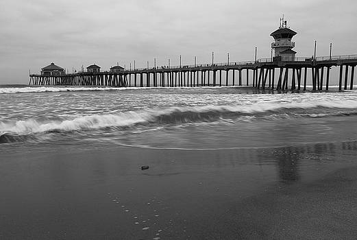 Huntington Beach Morning with Wave Blur by John Daly