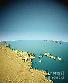 Hurghada 3D View South-North Natural Color by Frank Ramspott
