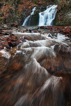 Hurkalo waterfall is located in Ukrainian Carpathians by Sergey Ryzhkov