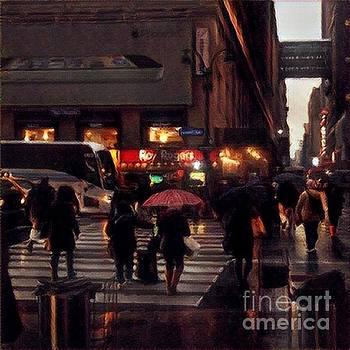 Hurrying Home - New York in the Rain by Miriam Danar