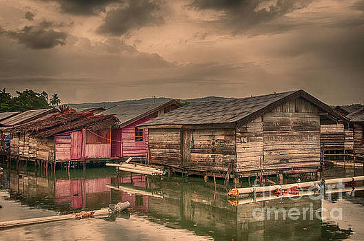 Huts in South Sulawesi by Charuhas Images
