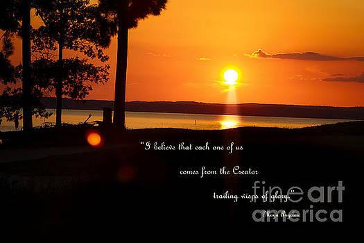 I Believe - Maya Angelou quote art print #553 by Ella Kaye Dickey