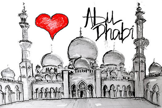 I love Abu Dhabi by Sladjana Lazarevic